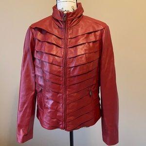 Neiman Marcus Leather Moto Jacket - size Large